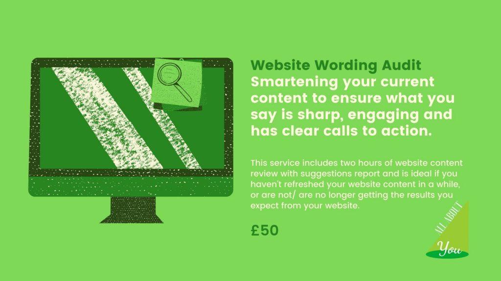 Website Wording Audit