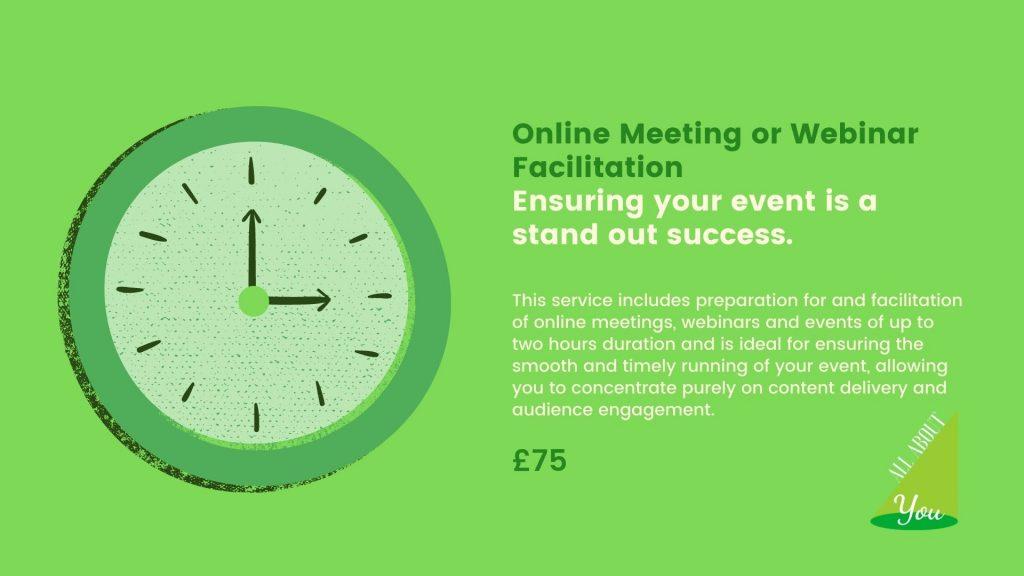 Online Meeting or Webinar Facilitation