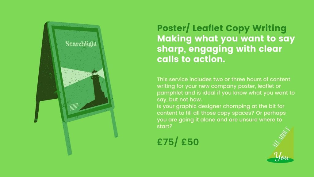 Poster/ Leaflet Copy Writing
